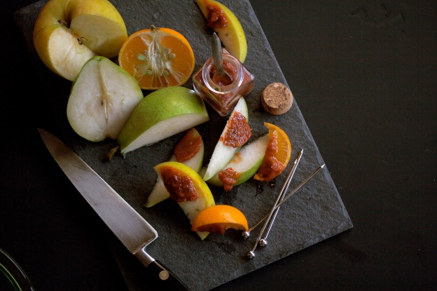 Fruits with Chilly Pickle