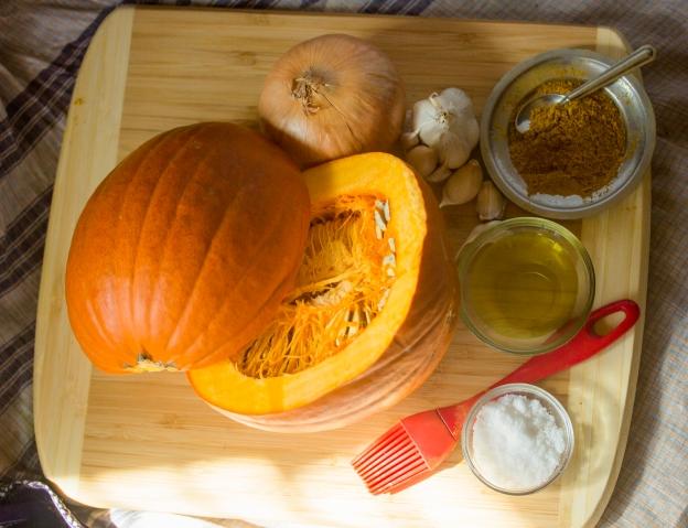 Preparing for a pumpkin soup